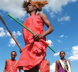 Jumping Maasai Warrior